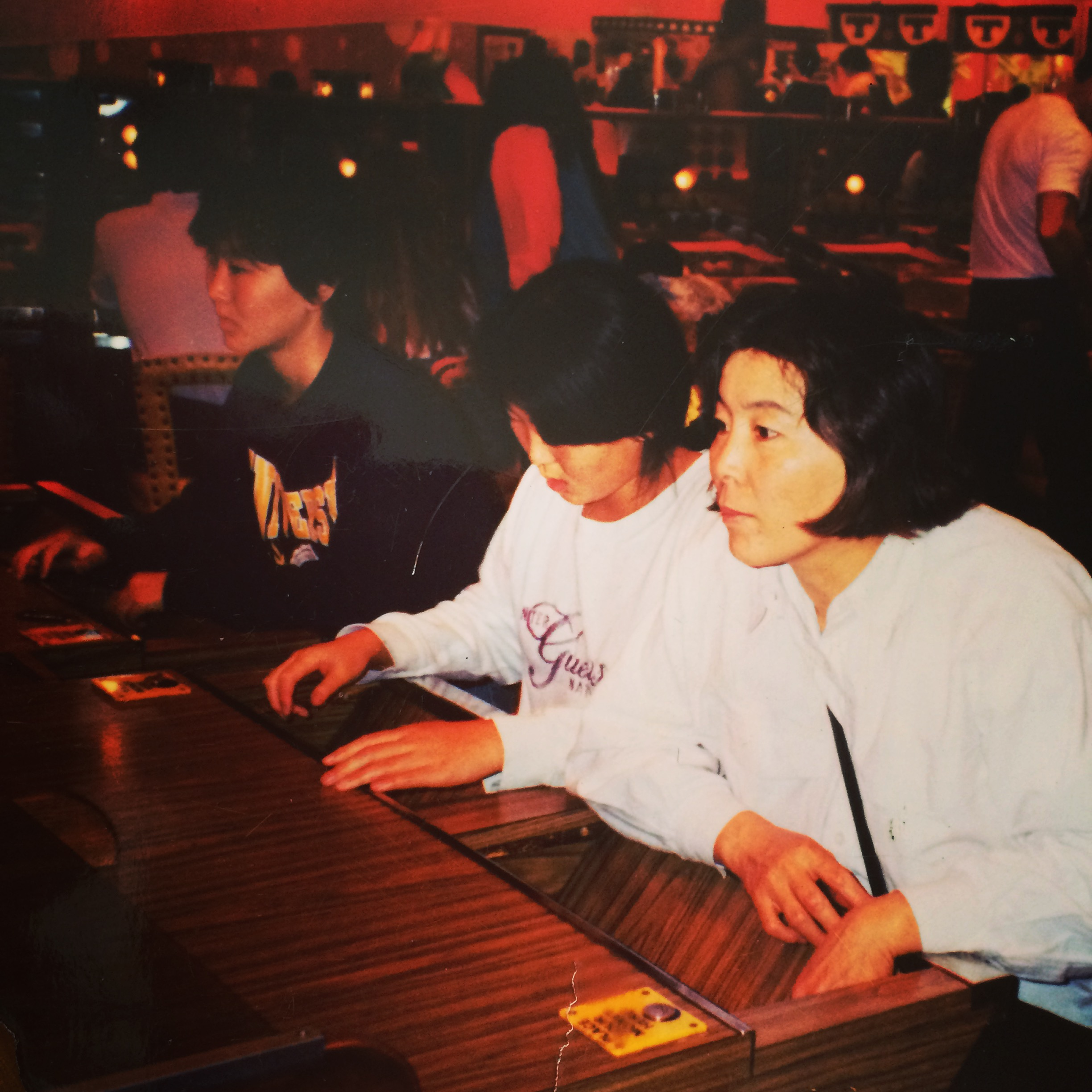 That's mom, me, and my sister playing penny slots